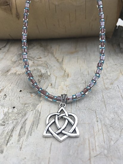 Silver Trinity Heart Necklace