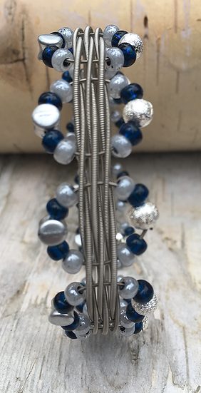 Electric Guitar String Bangle Capri Blue