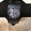 Thumbnail: Silver Dream Horses Tooled Navy Leather Bracelet