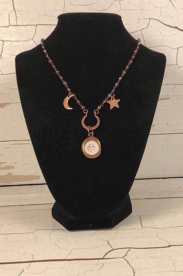 Copper Crest Sun, Moon, & Stars Necklace