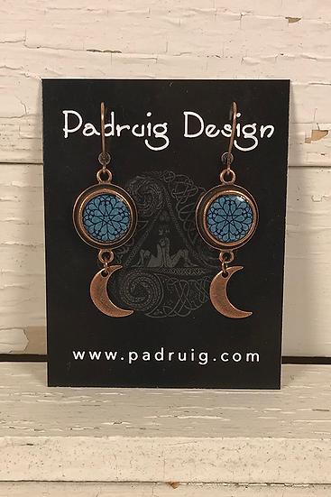 Copper Troyes Star Earrings