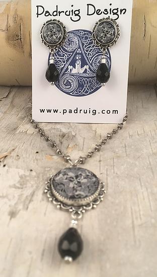 Antique Silver Dream Horses Necklace