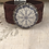 Thumbnail: Silver Helm Of Awe Tooled Burgundy Leather Bracelet