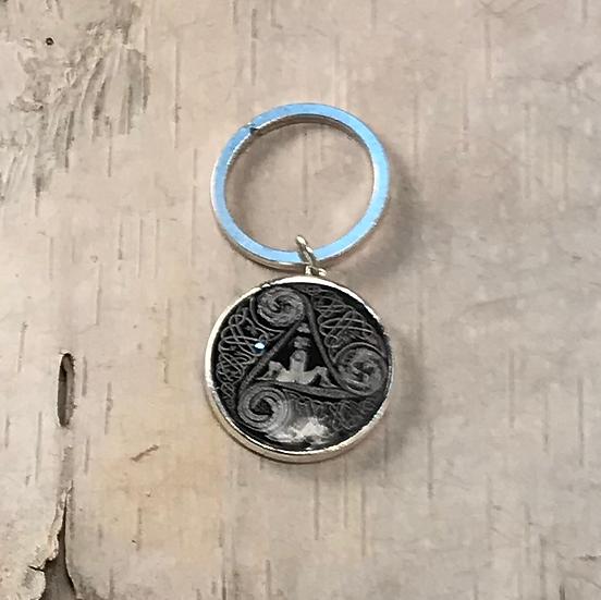 Silver Circle Of Life Key Ring