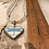 Thumbnail: Antique Silver Blue Dragonfly Heart Necklace
