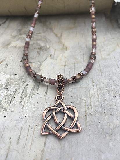 Copper Trinity Heart Necklace