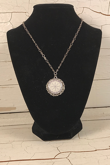 Silver Helm Of Awe Necklace