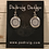 Thumbnail: Silver Crest Helm Of Awe Earrings