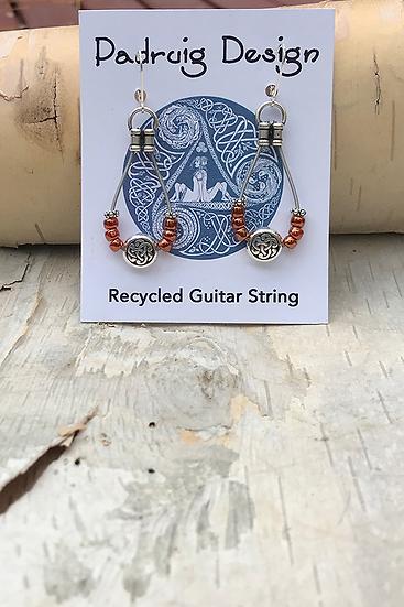 Siam Ruby Bass String Earrings