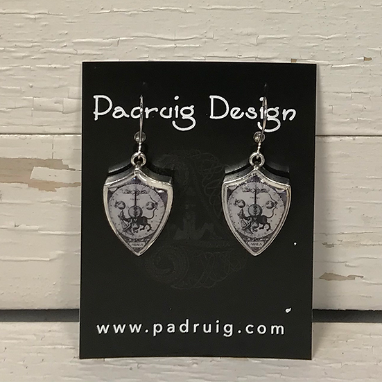 Silver Cabala Earrings