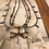Thumbnail: 3 Strand Teal Blue Antique Copper Dragonfly Necklace Set
