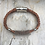 Thumbnail: Brown Leather Electric Guitar String Bracelet