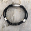 Thumbnail: Black Leather Guitar String Bracelet