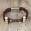 Thumbnail: Leather Electric Guitar String Bracelet Turkey Red