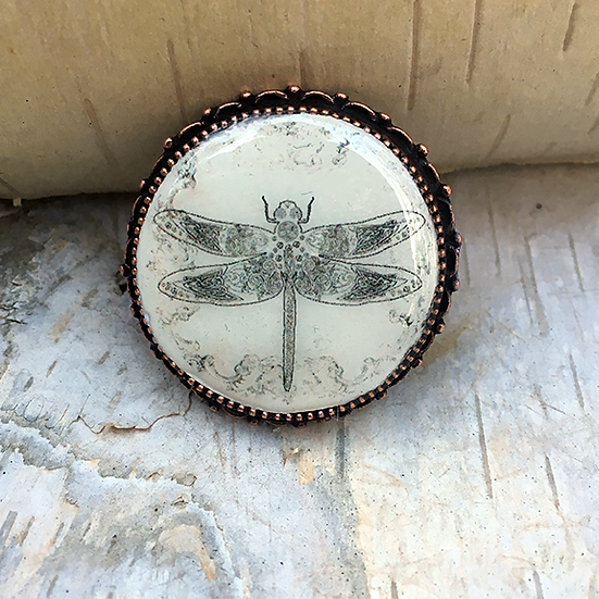 Copper Dragonfly Pin