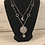 Thumbnail: Silver Two Strand Troyes Star Necklace