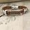 Thumbnail: Leather Electric Guitar String Bracelet Tan