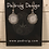 Thumbnail: Silver Helm Of Awe Earrings