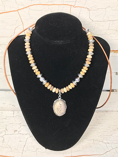 Picture Jasper and Art Stone Necklace