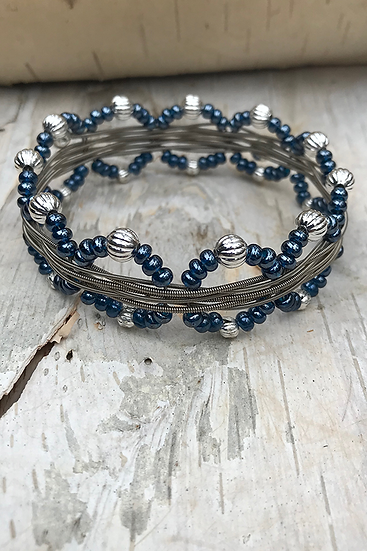 Electric Guitar String Bangle Montana Blue