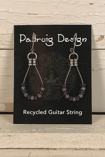 Single Guitar String Earrings