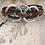Thumbnail: Silver 3 Circle Guitar String Bracelet