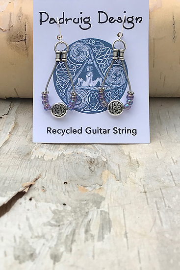 Lilac AB Bass String Earrings