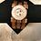 Thumbnail: Copper Sun, Moon, & Stars 3 Strap Leather Bracelet