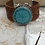 Thumbnail: Silver Helm Of Awe Tooled Leather Bracelet
