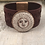 Thumbnail: Copper Sun, Moon, & Stars Tooled Burgundy Leather Bracelet
