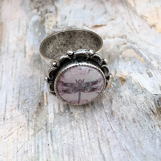 Rose Dragonfly Ring
