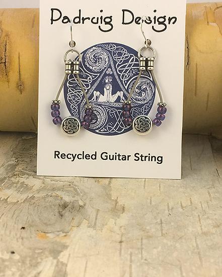 Vega Purple Bass String Earrings