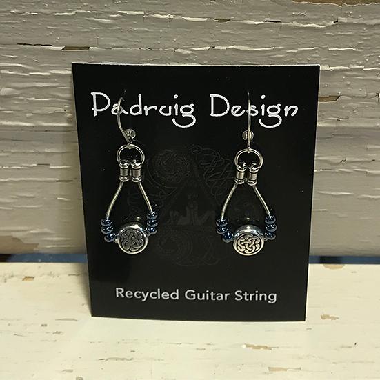 Montana Blue Celtic Guitar String Earrings
