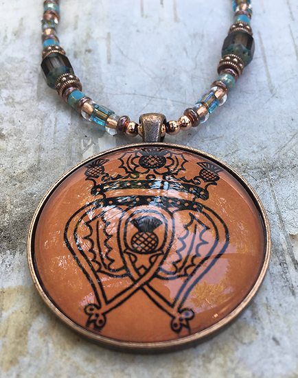 Autumn Maple Luckenbooth Necklace