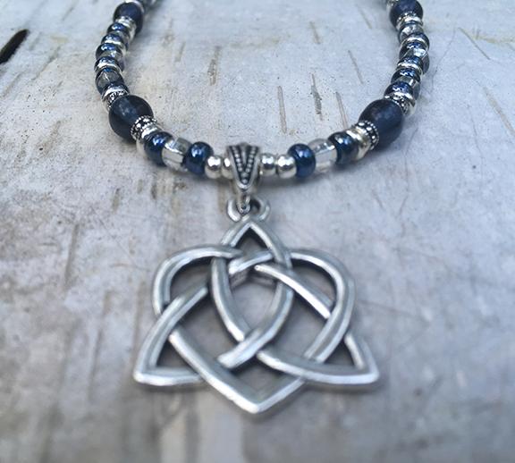 Trinity Heart Montana Blue Necklace