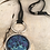Thumbnail: Silver Dream Horses Deerskin Lace Necklace Blue Purple