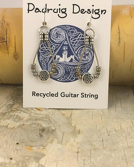 Grey Bass String Earrings