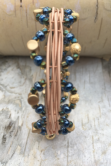 Acoustic Guitar String Bangle Montana/Teal