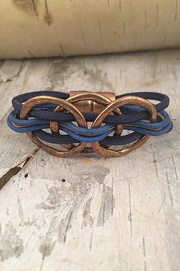 Copper 3 Circle Guitar String Bracelet