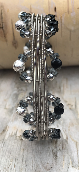 Electric Guitar String Bangle Black