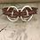 Thumbnail: Silver 3 Circle Turkey Red Bass String Bracelet