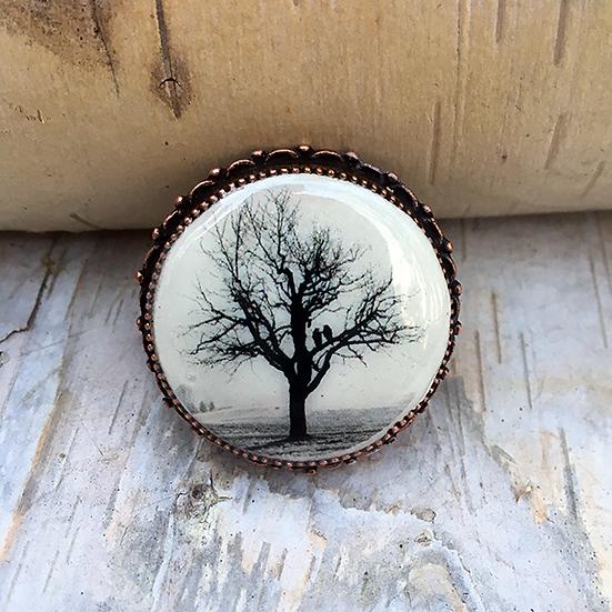 Raven Tree Pin