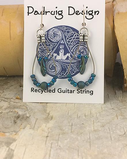 Dragonfly Wing Guitar String Earrings