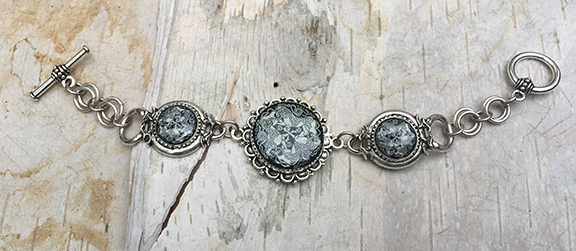 Antique Silver Dream Horse Link Bracelet
