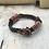 Thumbnail: Indigo Leather Acoustic Guitar String Bracelet