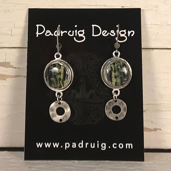 Silver Moose Maple Disc Earrings