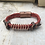 Thumbnail: Rose Leather Acoustic Guitar String Bracelet