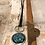 Thumbnail: Silver Dream Horses Deerskin Lace Necklace Blue Green