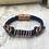 Thumbnail: Blue Leather Acoustic Guitar String Bracelet