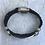 Thumbnail: Black Deerskin Lace Amore Bracelet